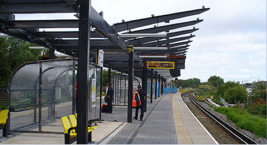 Trunking installed at Sandhill Station