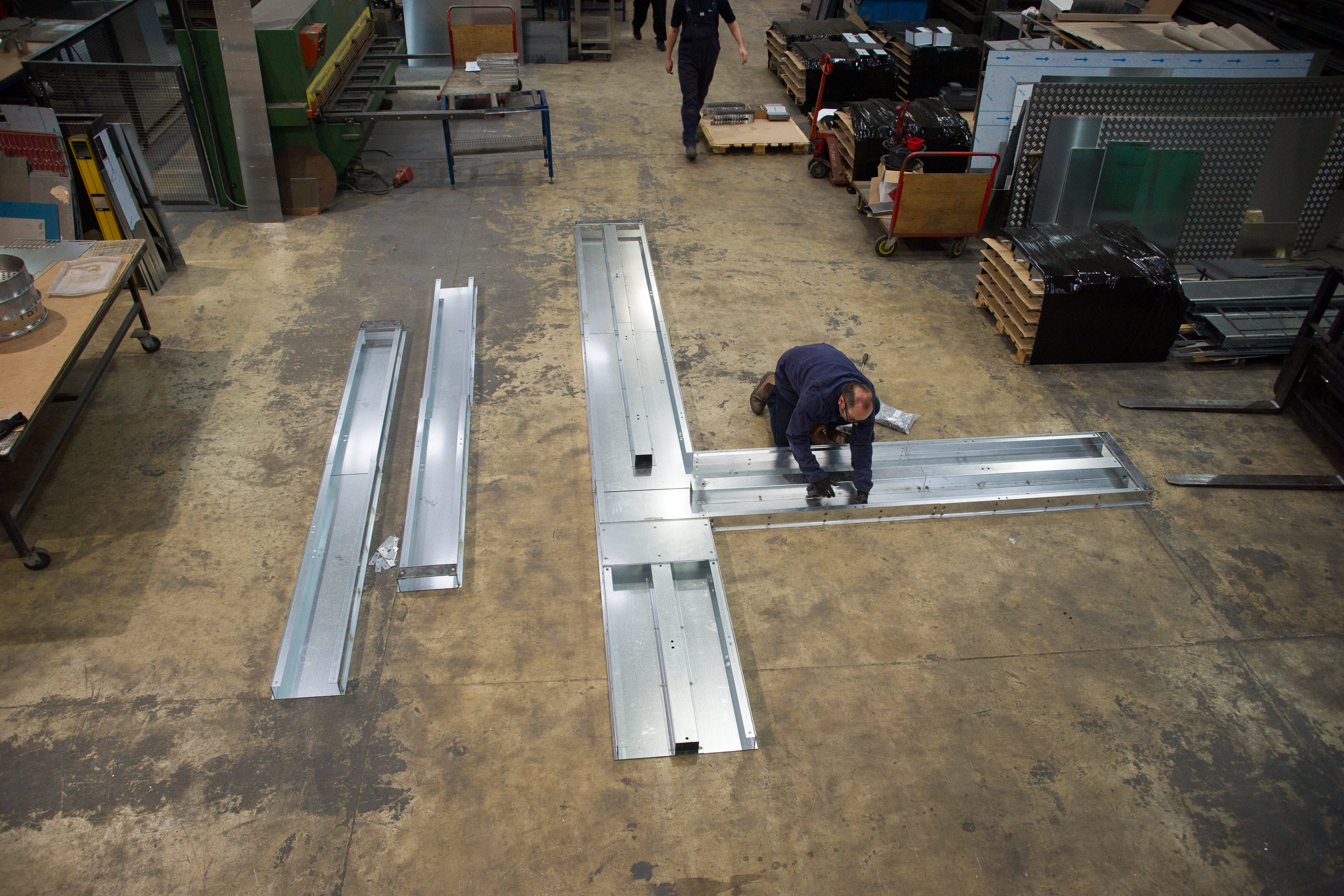 Trunking being manufactured
