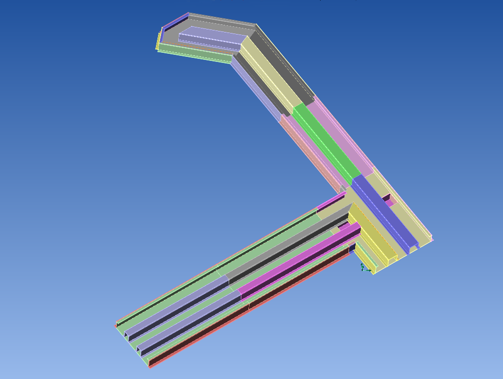 proton scanner trunking inside CAD